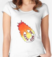 Dead Like Me - Flaming Toilet Seat Women's Fitted Scoop T-Shirt