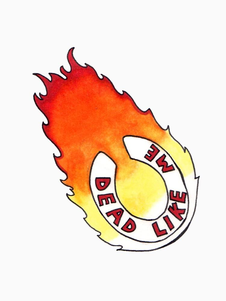 Dead Like Me - Flaming Toilet Seat by Fullerverse