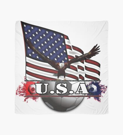 USA Soccer with Eagle & Flag Scarf