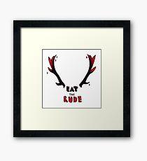 Hannibal - Eat The Rude Bloody Antlers Framed Print