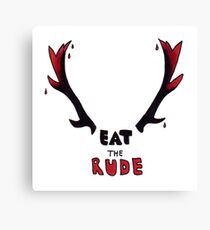 Hannibal - Eat The Rude Bloody Antlers Canvas Print