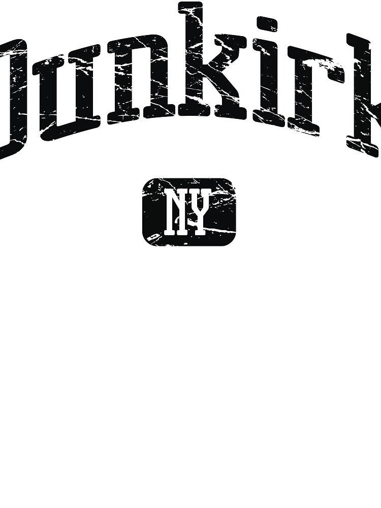 Dunkirk New York NY Vintage Style Faded Tee from Hometown Tees von HometownTees