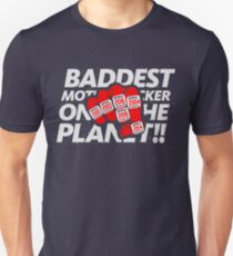 Limited Edition Baddest Mf'er On The Plant Tom Brady, New England Patriots 6 Rings, Tb12 Shirts, Mugs & Hoodies Slim Fit T-Shirt