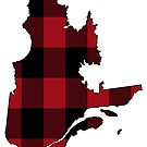 Quebec in Red Plaid by Sun Dog Montana