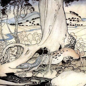 The Questing Beast - Arthur Rackham by forgottenbeauty