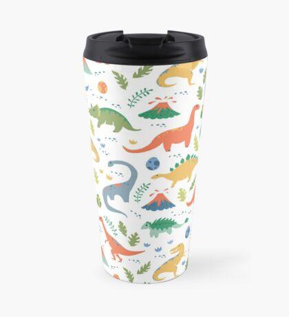 Dinos + Volcanoes Travel Mug