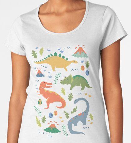 Dinos + Volcanoes Women's Premium T-Shirt