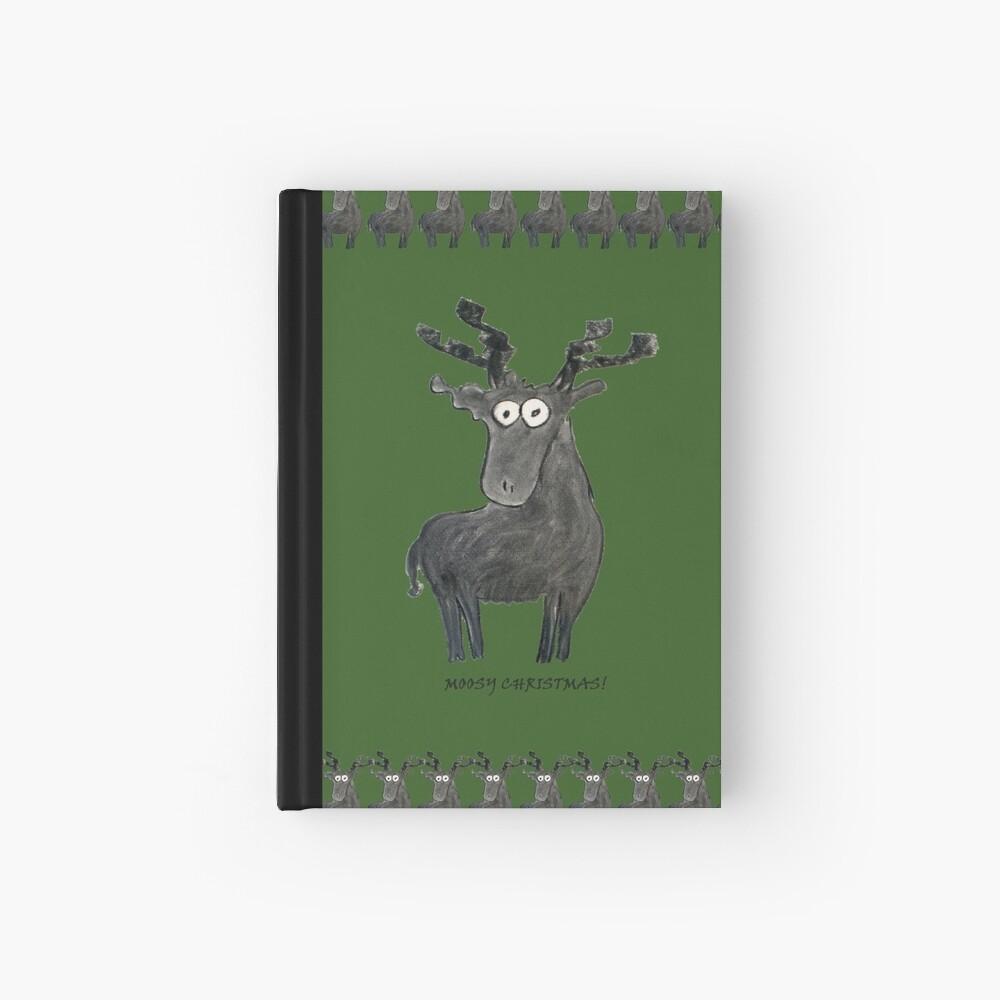 Moosy Christmas Hardcover Journal