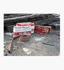 Old fire hose. Photographic Print