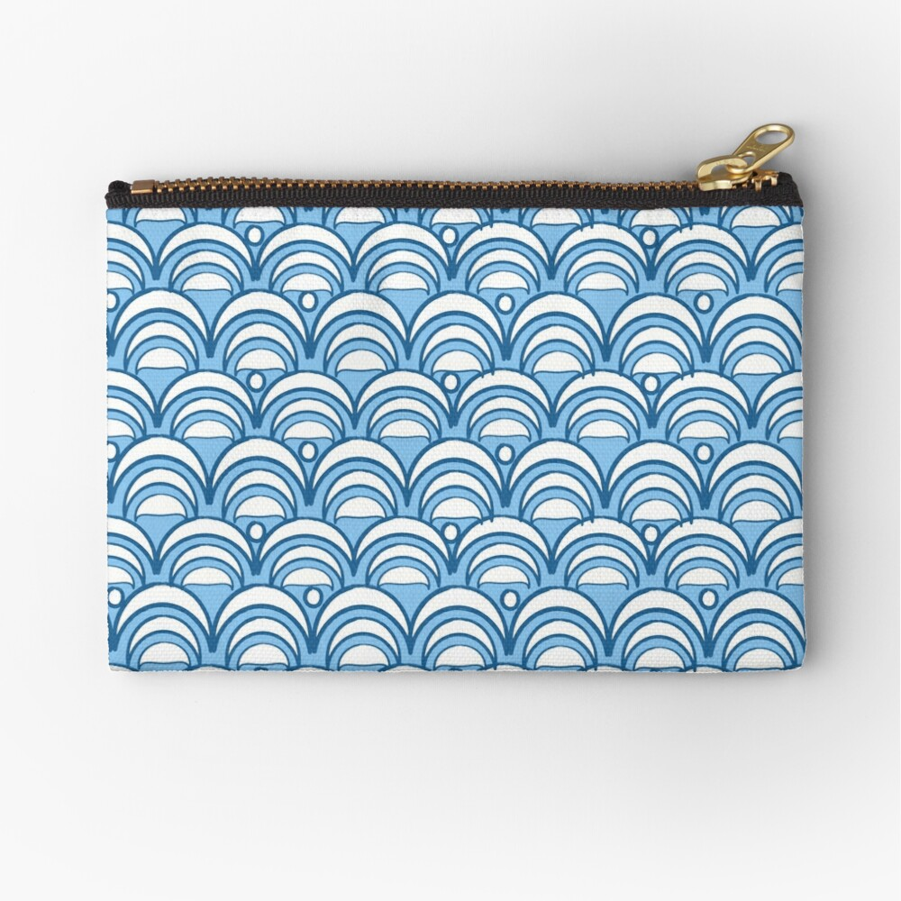 Asian Summer Sky Pattern Zipper Pouch