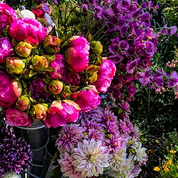 Buckets of Flowers by MarylouBadeaux
