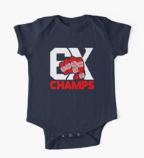 Limited Edition 6x Champs Tom Brady Tb12, New England Patriots, 6 Rings, Shirts, Mugs & Hoodies Short Sleeve Baby One-Piece