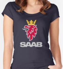 Saab logo products Women's Fitted Scoop T-Shirt