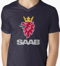Saab logo products Men's V-Neck T-Shirt
