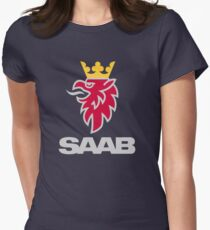 Saab logo products Women's Fitted T-Shirt