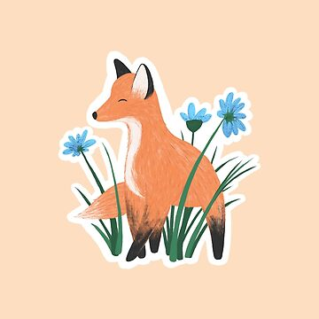Fox & Flowers by hellobubblegum