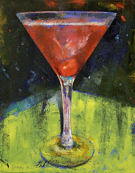 Comfortable Cherry Martini by Michael Creese