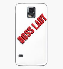 Boss Lady Red Hülle & Skin für Samsung Galaxy