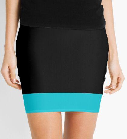 Black and Turquoise Mini Skirt