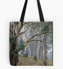 Trees in the mist. Tote Bag
