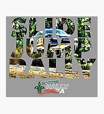 Slide Jump Rally - Colour/Grey Photographic Print