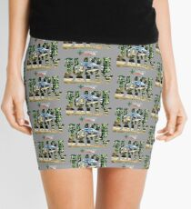 Slide Jump Rally - Colour/Grey Mini Skirt