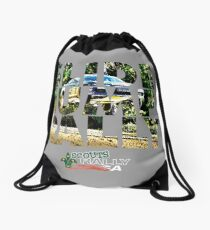 Slide Jump Rally - Colour/Grey Drawstring Bag