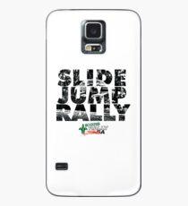 Slide Jump Rally - Black & White/White Case/Skin for Samsung Galaxy