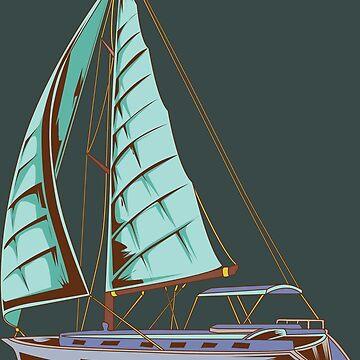 Boating Season Canvas Yacht Fun Gift by Sandra78