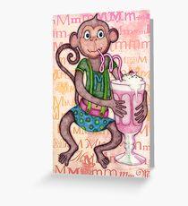 Monkey's Milkshake - mmmm! Greeting Card