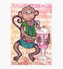 Monkey's Milkshake - mmmm! Photographic Print