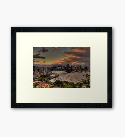 Good Morning World (Panoramic)- Moods of A City - The HDR Experience Framed Print