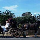 horse and carriage off to church, Richmond, Tasmania by BronReid