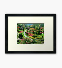 Butchart Gardens BC, Canada in the Fall Framed Print