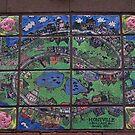 Montville, Queensland mosaic town map by BronReid