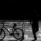 Silhouette Of The Unknown Biker by artisandelimage