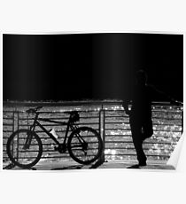 Silhouette Of The Unknown Biker Poster