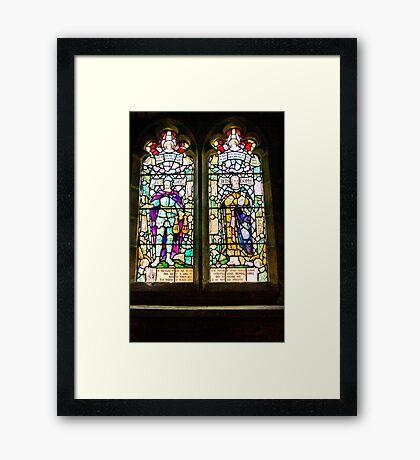 Hubberholme Church Window #1 Framed Print