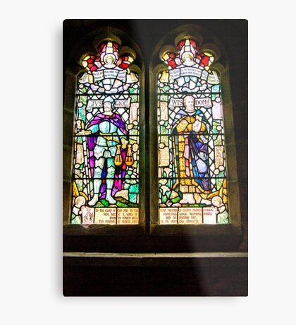 Hubberholme Church Window #1 Metal Print