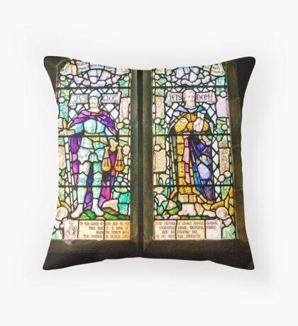 Hubberholme Church Window #1 Throw Pillow