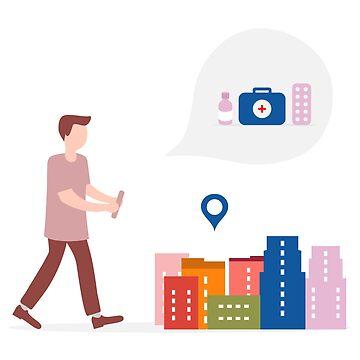 Use AR app to check information around customer. by aquamarine-p