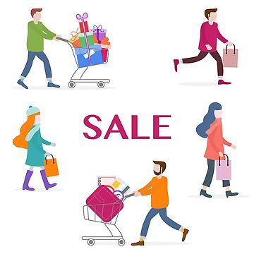 Big sale and shopping concept. People go shopping. by aquamarine-p