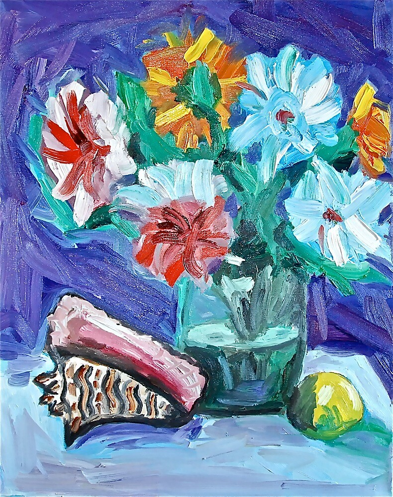 Flowers with Shell by Sonny  Williams