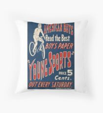 1950's Bicycle Ad Throw Pillow