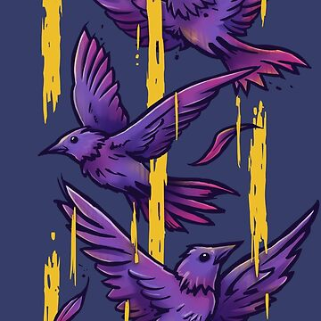 Pájaros morados de c0y0te7