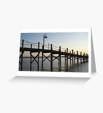 Down the Dock Greeting Card