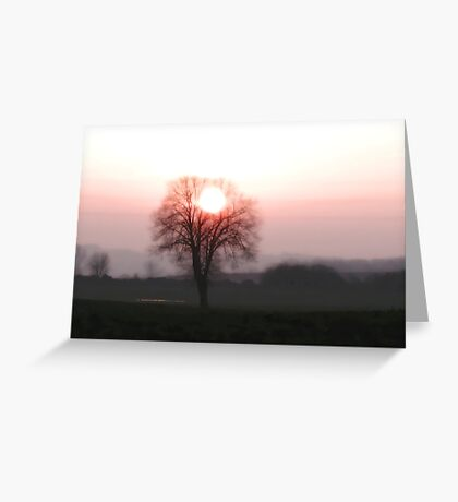 Sun in the crown Greeting Card