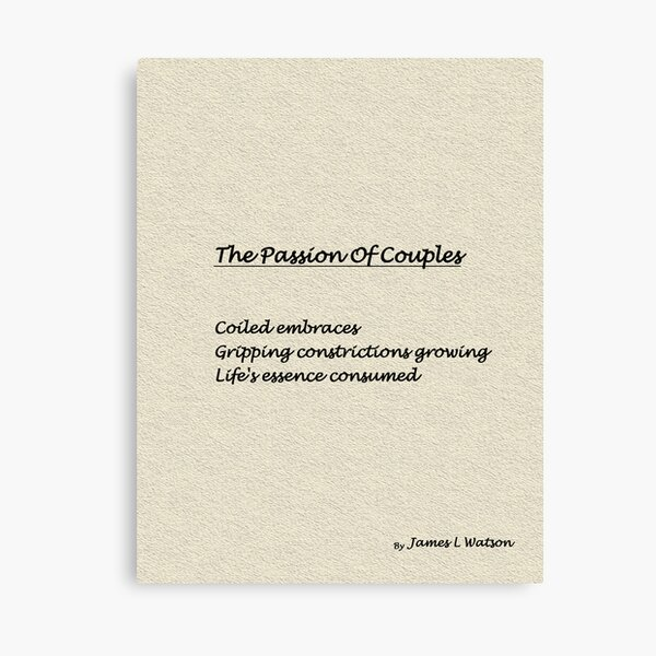 The Passion Of Couples Canvas Print