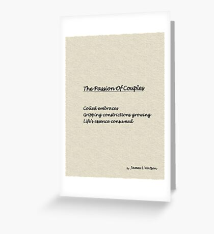 The Passion Of Couples Greeting Card