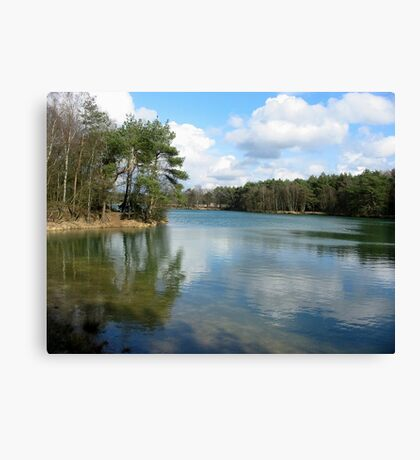 Blue Lake Mirror Canvas Print